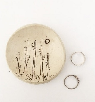 Ceramic Forest Ring Dish / Kristen Solecki