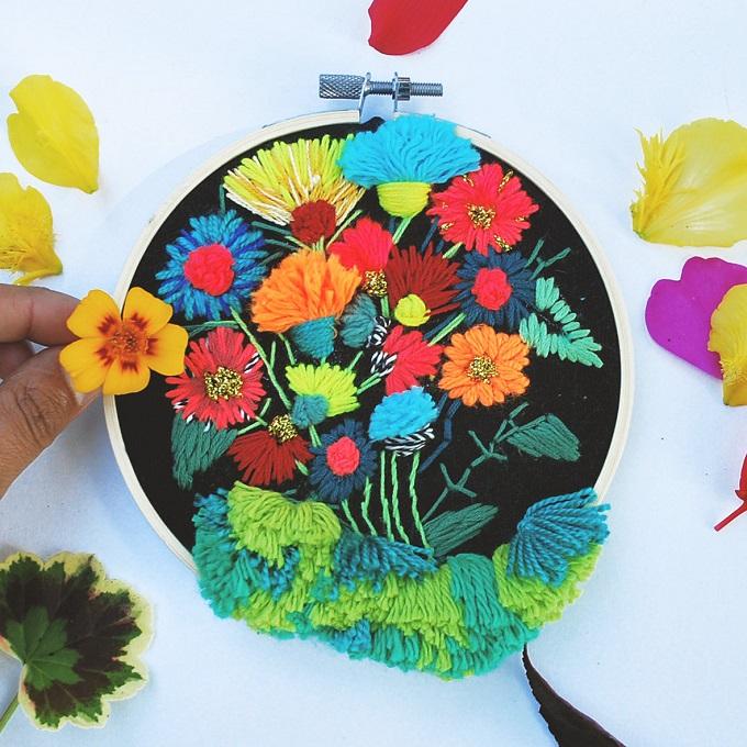 A Wild Bouquet Embroidery - Katy Biele