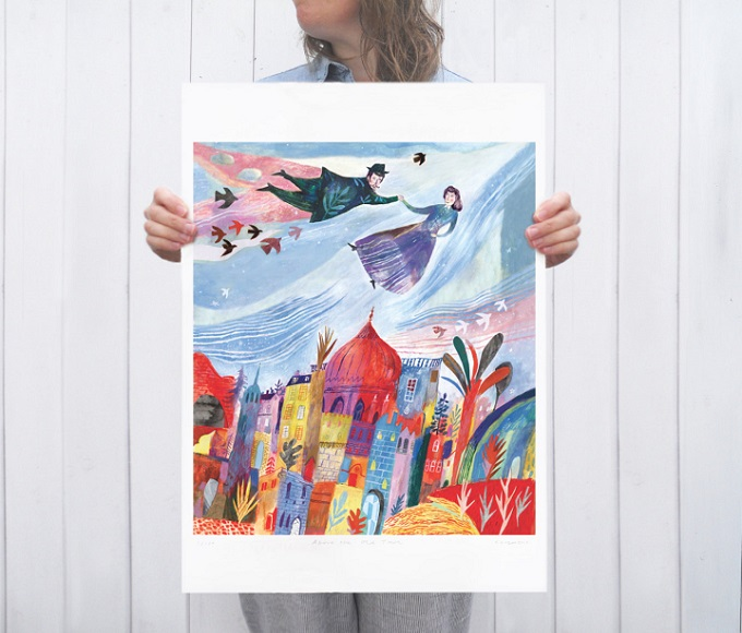 Above the Old Town Art Print - Chris Hagan