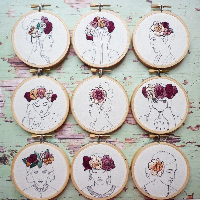 Embroidered portraits / Amy Dawson