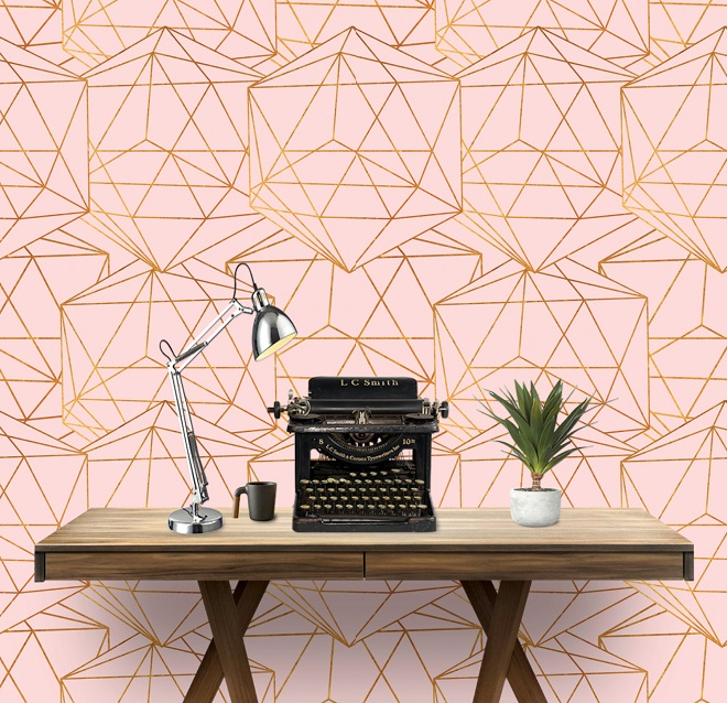 Geometric Glam Wallpaper / Art Paper And