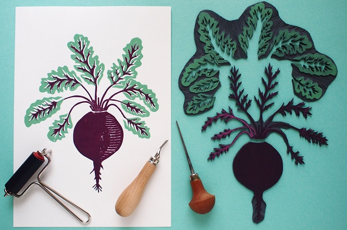 Back to the Beetroot Original Handprint - Paprika Paper Goods