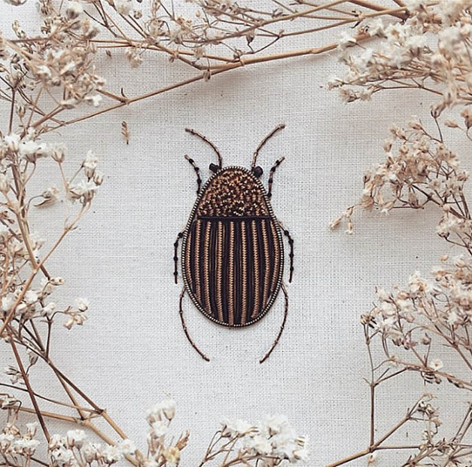 Barney the Beetle Embroidery - Humayrah Poppins