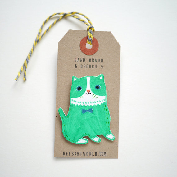 Cat pin / Bels Art