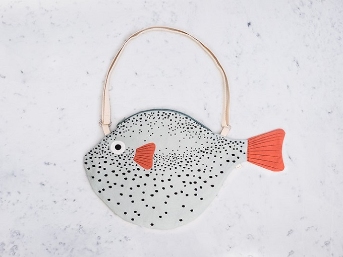 Big Green Pufferfish Bag - Don Fisher