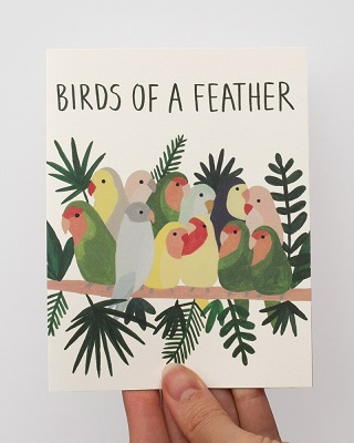 Birds of a Feather Card / Kate Pugsle