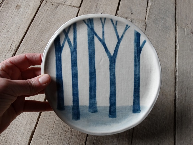 Blue Forest Plate - Mountain Clay
