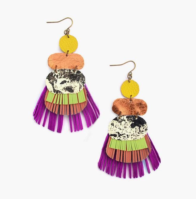 Fringe Earrings / Boo & Boo Factory