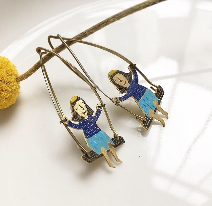 Illustrated Jewelry by Breadcrumbs Craft