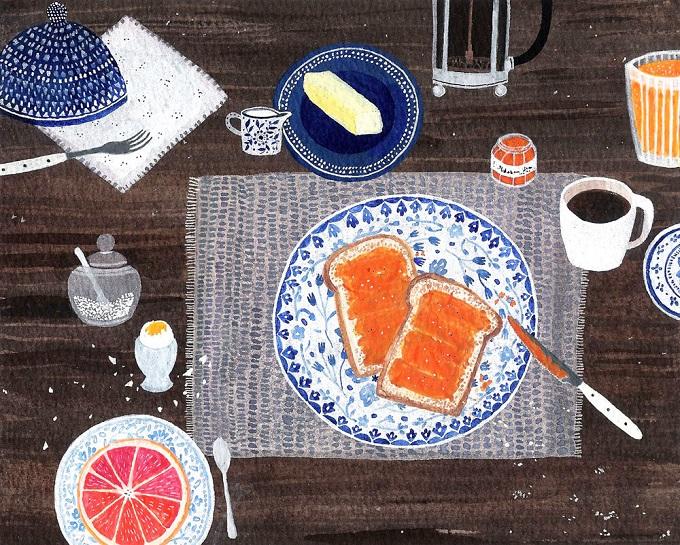 Breakfast Time Print - Becca Stadtlander