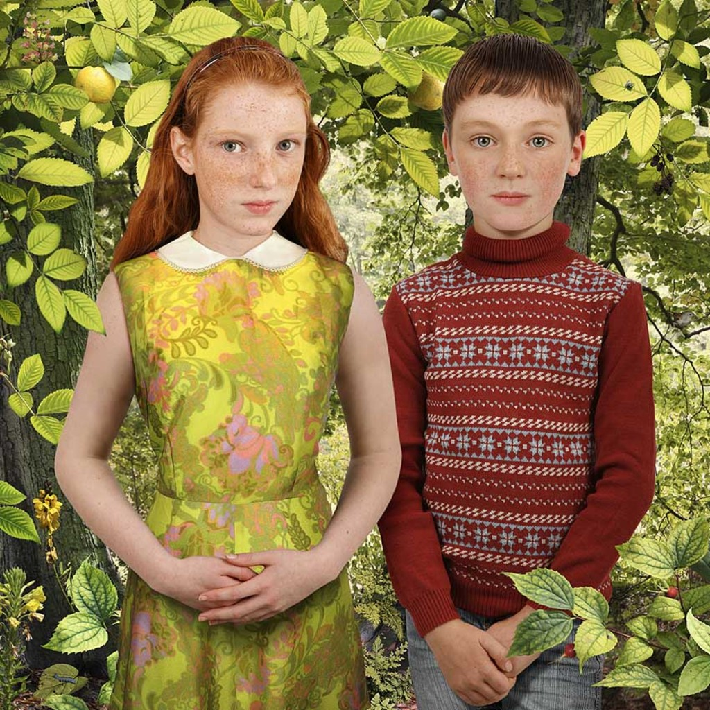Brothers & Sisters #3, 2010. By Ruud van Empel, 2010. Courtesy Flatland Gallery (Amsterdam, Paris).
