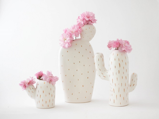 Cactus Shaped Vases Set - Olis Cupboard