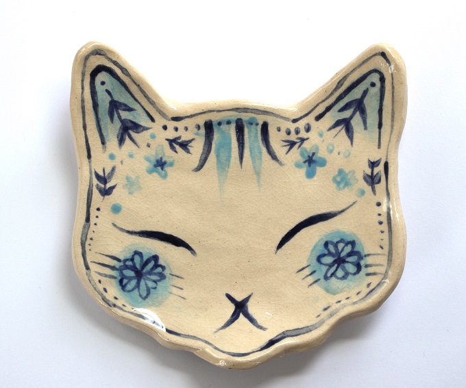 Cat Face Jewellery Dish - Annie Le Santo
