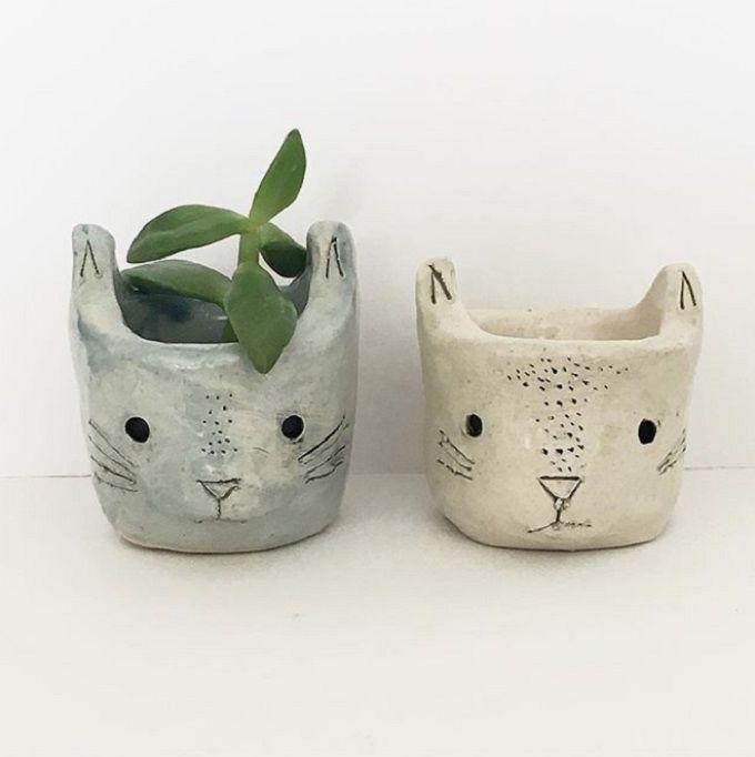 Cat Planter - Kristen Solecki
