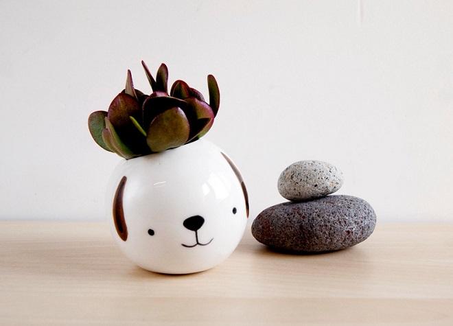 Ceramic Dog Pot - Noe Marin