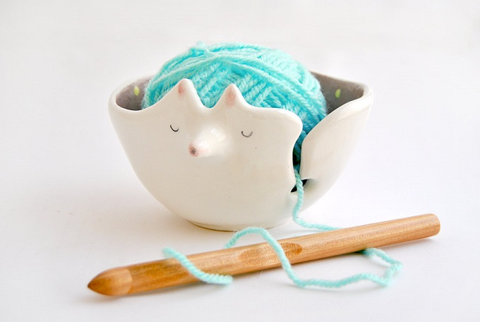 Ceramic Fox Yarn Bowl - Barruntando