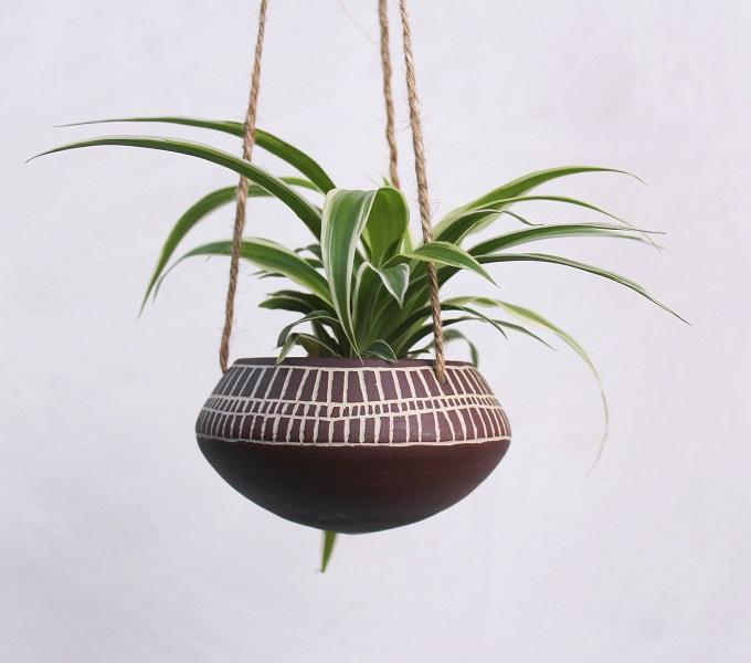 Ceramic Hanging Planter - Seisko Ceramics