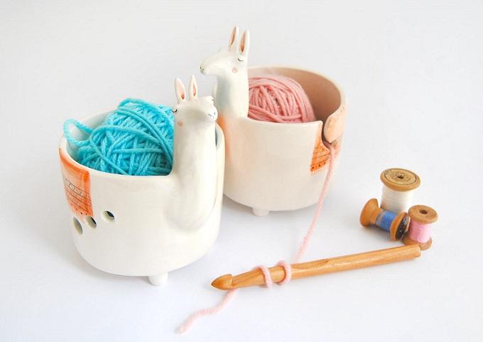 Ceramic Llama Yarn Bowls - Barruntando