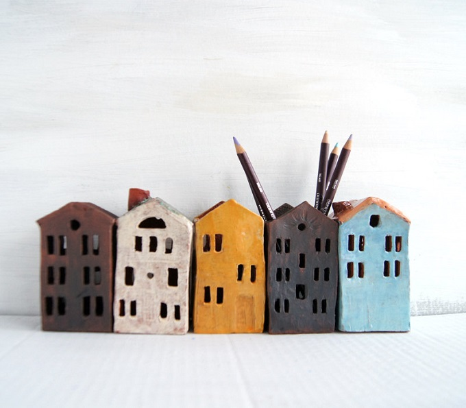 Ceramic Pencil Holders - V Socks