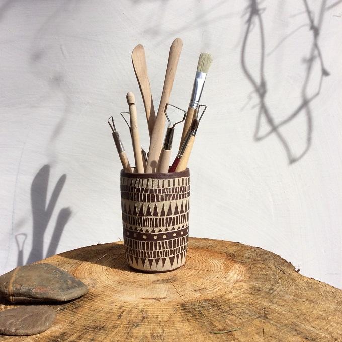 Ceramic Utensil Holder - Seisko Ceramics