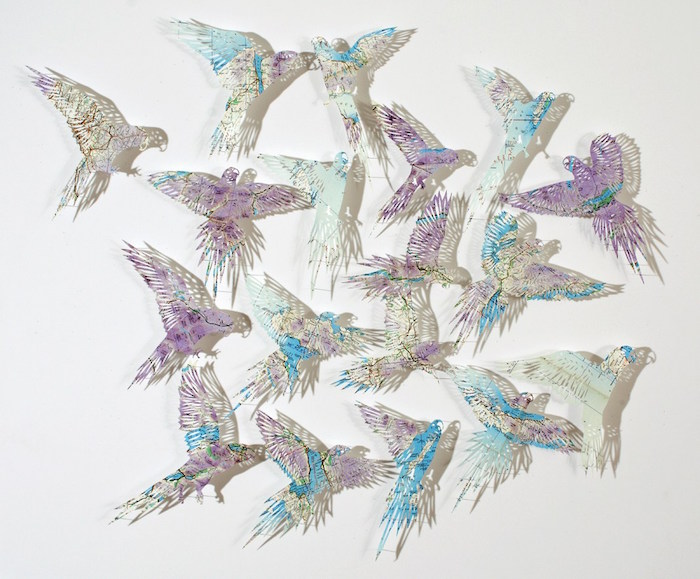 Birds from paper maps / Claire Brewster