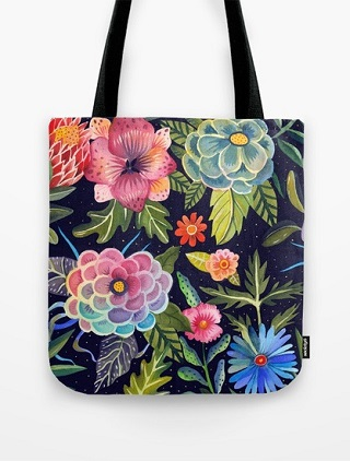 Cosmic Florals Tote Bag - Aitch