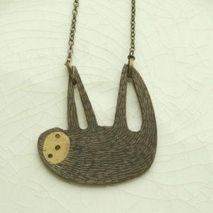 Sloth necklace by Anna Tverdokhlebova8