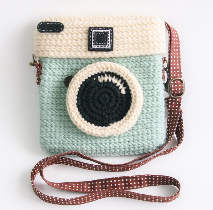 Crochet Lomo Camera Purse - Meemanan Shop