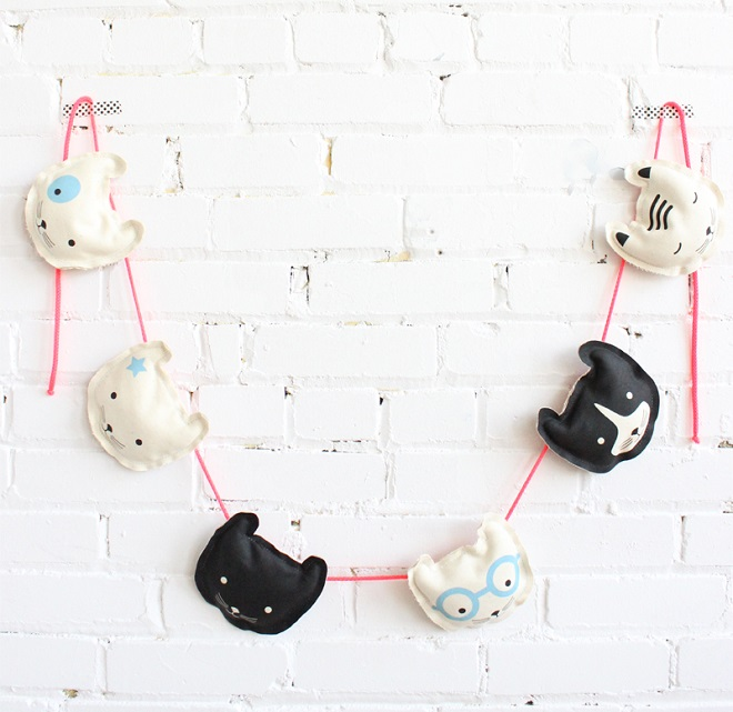 DIY Cat Garland - Baba Souk