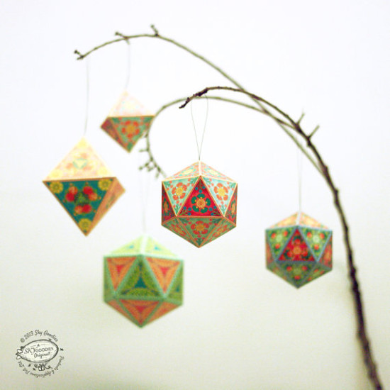 DIY Christmas Paper Ornaments : Sky Goodies