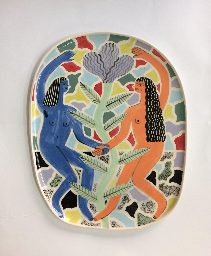 Dancing Girls Plate - Laura Bird