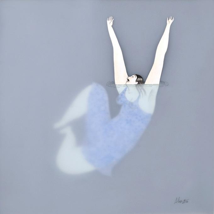 Dona d'Aigua Art Print - Sonia Alins