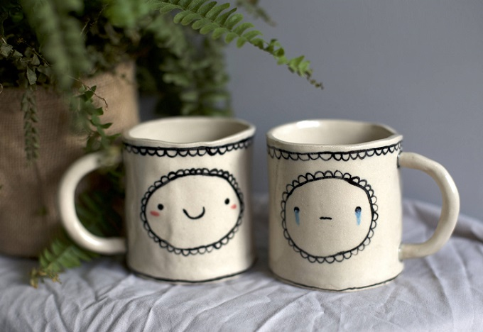 Double Trouble Mugs - Isobel Higley Ceramics
