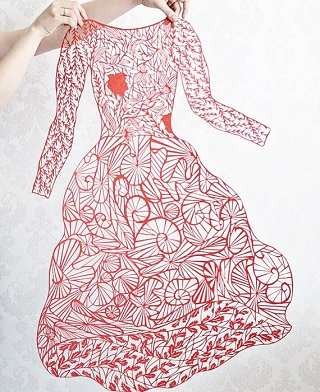 Papercut dress / Eugenia Zoloto