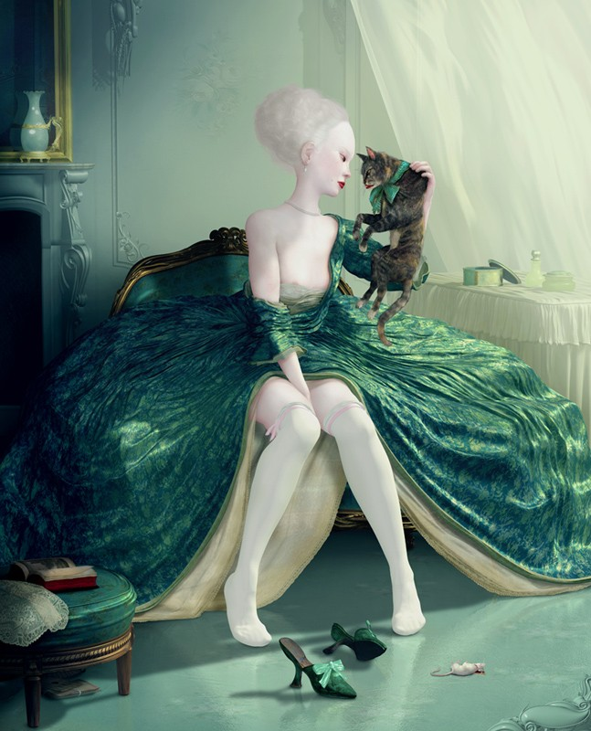 French Kiss. By Ray Caesar, 2009.
