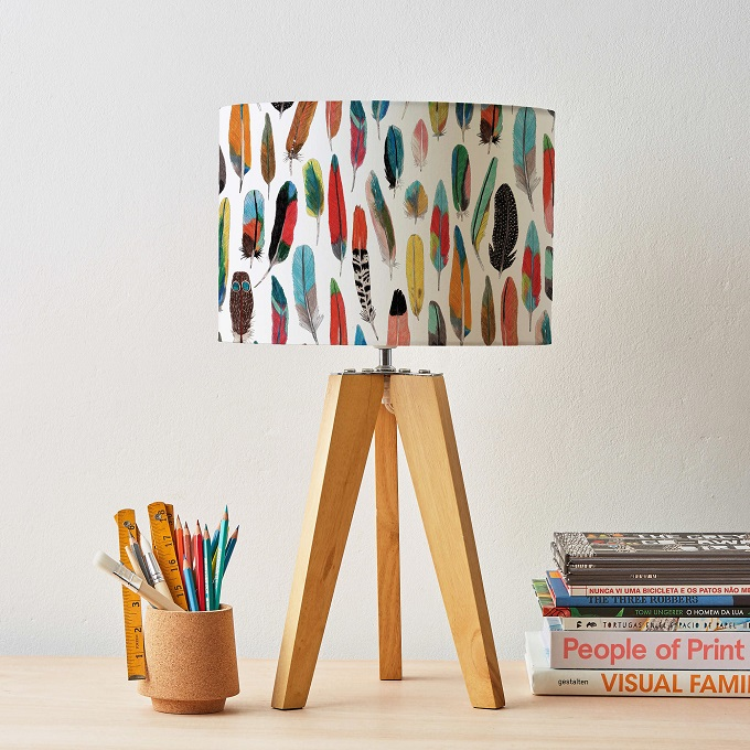 Feather Lampshade - Jamer Barker Draws