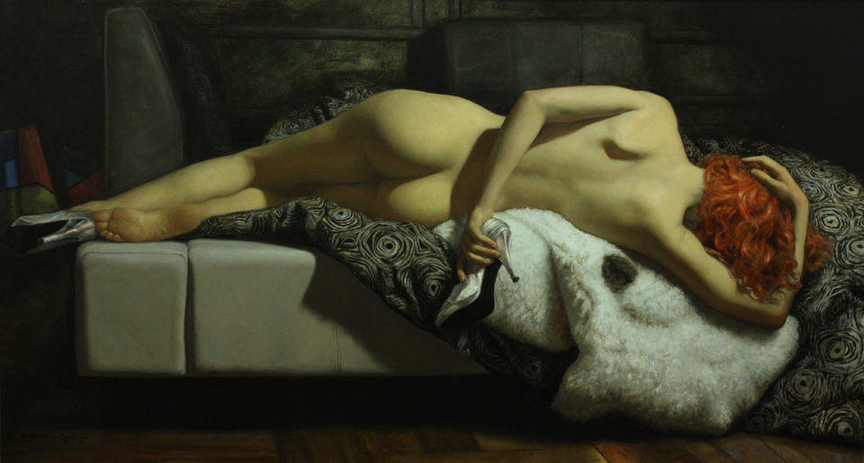 First Night, by Cesar Santos. Oil on canvas.