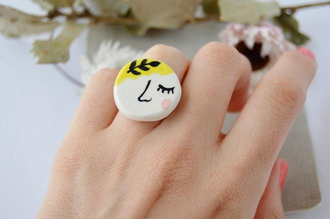 Ceramic Ring / Fleur de Carotte