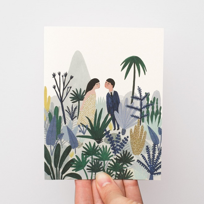 Forest Love Card - Kate Pugsley