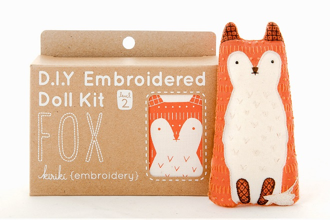 Fox Embroidery Kit / Kiriki Press