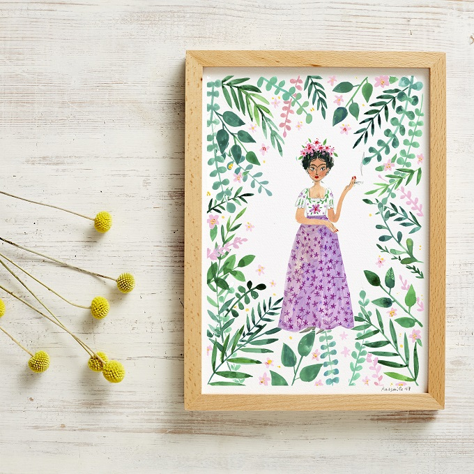 Frida Kahlo Poster - And Smile Studio