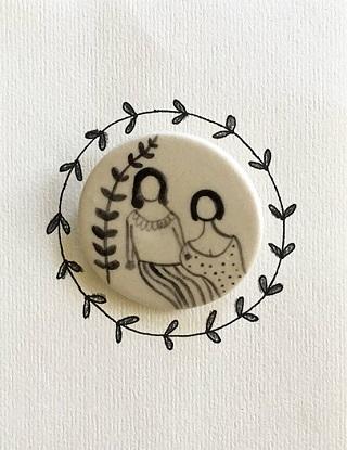 Friends Ceramic Brooch - Maheswari Janarthanan