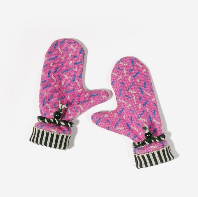 Funfetti Pink Mittens - Sheila Couture