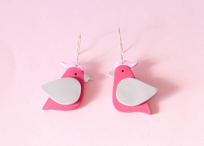 Galah Earrings - Molly Coombs Marr
