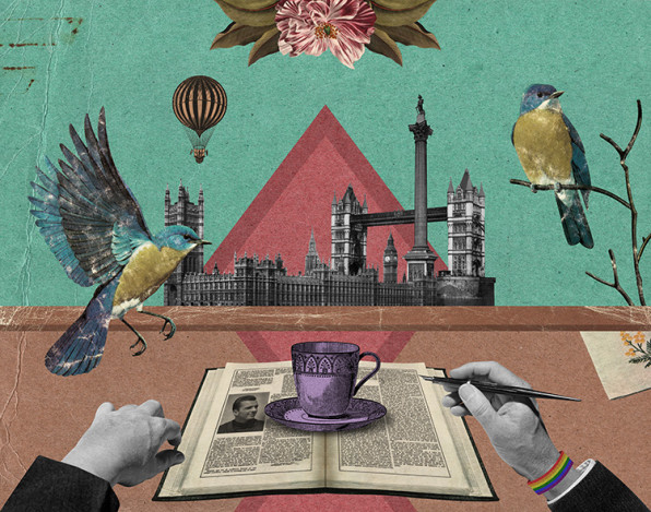 Illustration for book shop Gay's the Word, London. By Randy Mora, 2011.