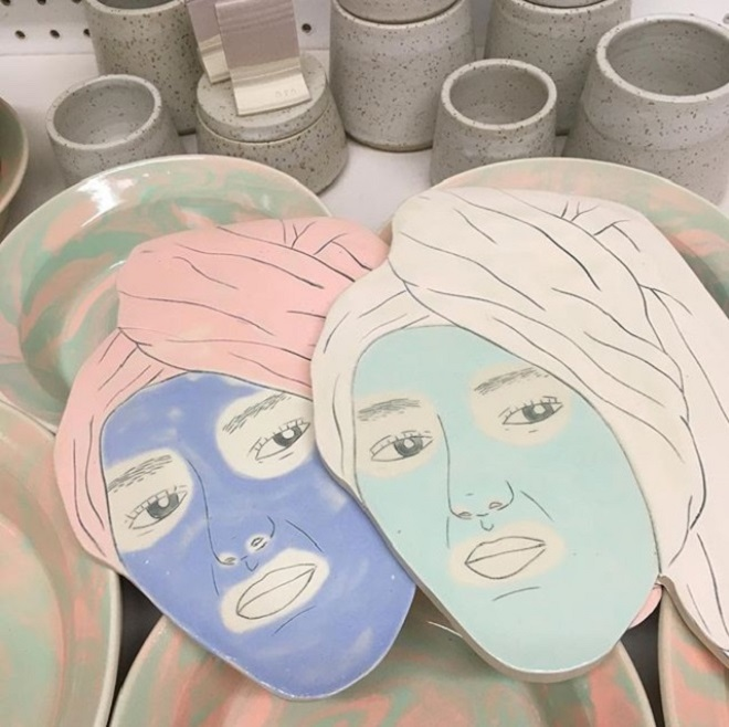 Ceramic Illustrations by Genevieve Dionne