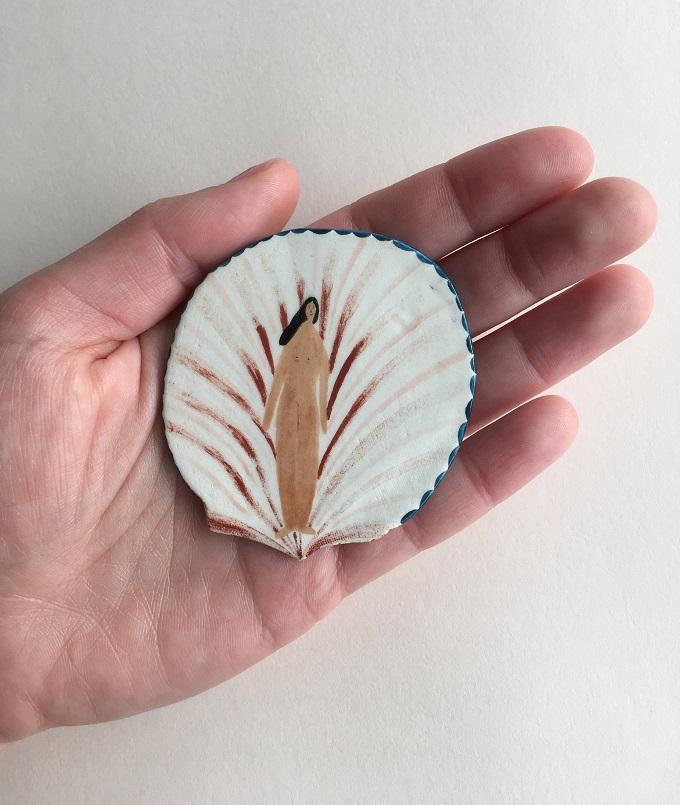 Ceramic Pin by Georgie Ellen McAusland