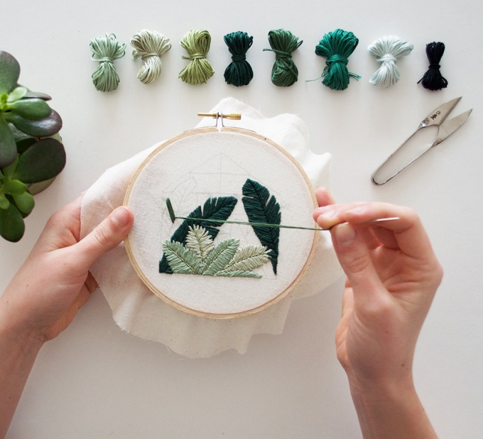 Glasshouse Embroidery Pattern - Sarah K. Benning