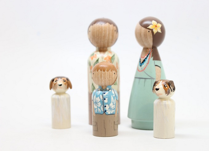 Wooden Dolls by Goose Grease