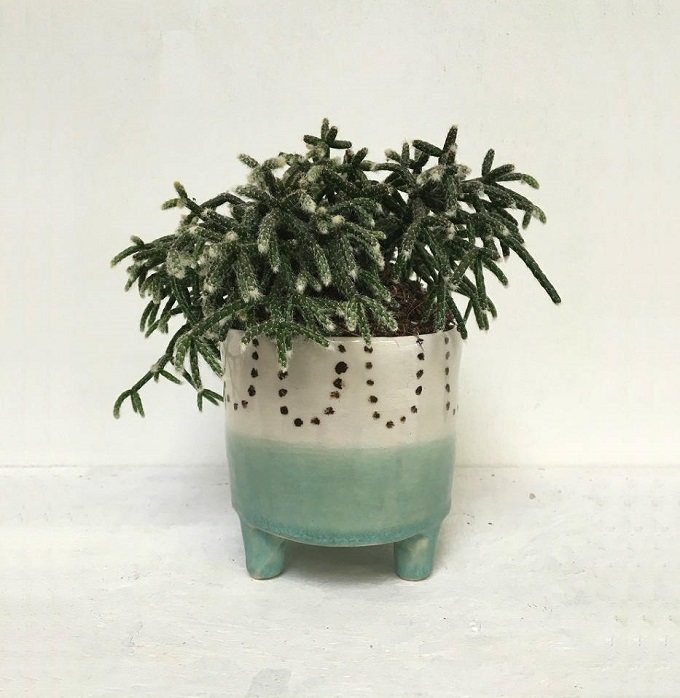 Green Dip Pot - The Pottery Parade